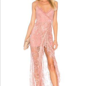 ISO Majorelle Paisley Dress in Blush & Silver